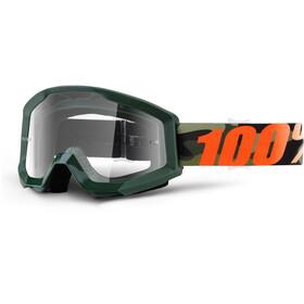 100% Strata Goggles oliv